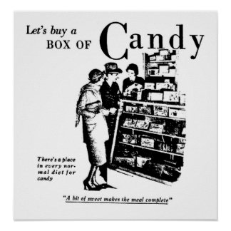 Let s Buy A Box of Candy Print