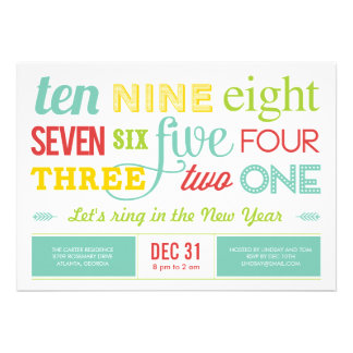 Let s Count Down New Year s Eve Party Invitation Personalized Invitations