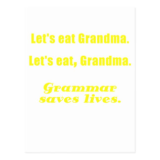 Let s Eat Grandma Grammar Saves Lives Postcards