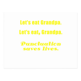 Let s Eat Grandpa Punctuation Saves Lives Post Cards