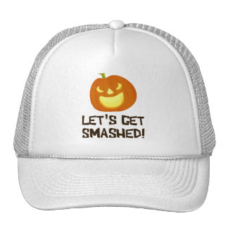Let s Get Smashed Halloween Party Trucker Hats