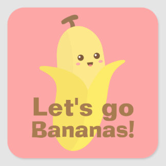 Let s go bananas stickers