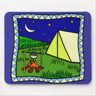 LET S GO CAMPING MOUSE MATS