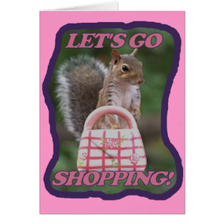 Let's Go Shopping Card