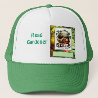 "Let""s grow vegetables trucker hat"