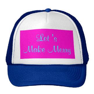 """Let 's Make Merry"" Retro-Style Merry Xmas Design Cap"