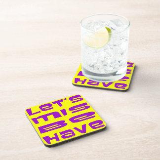 Let's Misbehave Beverage Coaster
