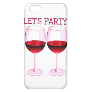 LET S PARTY FUN PARTY RED WINE PRINT COVER FOR iPhone 5C