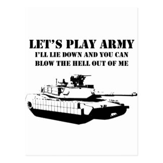 Let s Play Army Postcard