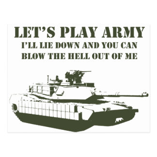 Let s Play Army Post Card