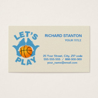 Let's play basketball business card