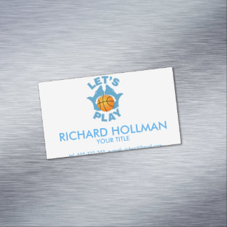 Let's play basketball magnetic business cards