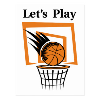 Let s Play Basketball Postcards
