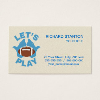Let's play football business card