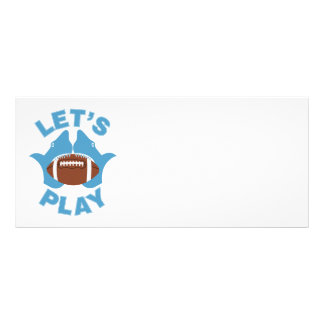 Let's play football personalised rack card