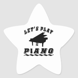 Let s Play Piano Star Stickers