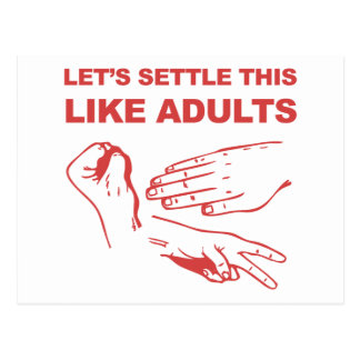 Let s Settle This Like Adults Postcards
