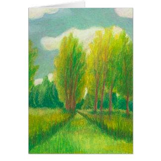 Let s Take a Walk - beautiful day original drawing Card