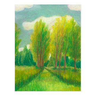 Let s Take a Walk - beautiful day original drawing Postcard