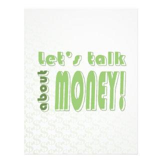 Let s talk about money flyer design