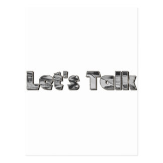 let s Talk Postcard