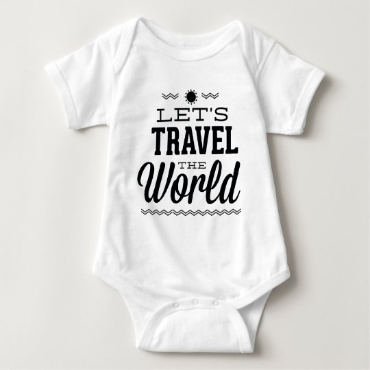 Let's Travel The World Baby Bodysuit