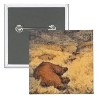 """""""Let Sleeping Bears Lie"""" 15 Cm Square Badge"""