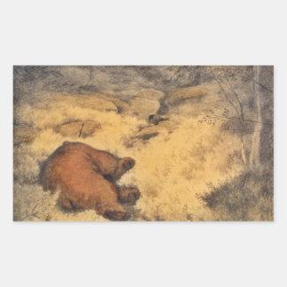 """""""Let Sleeping Bears Lie"""" Rectangular Sticker"""