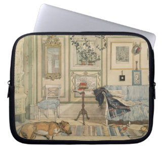 Let Sleeping Dogs Lie Swedish Watercolor Laptop Sleeve
