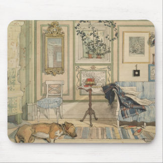 Let Sleeping Dogs Lie Swedish Watercolor Mouse Mat