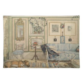 Let Sleeping Dogs Lie Swedish Watercolor Placemat