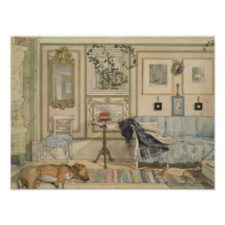 Let Sleeping Dogs Lie Swedish Watercolor Poster