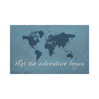 Let the adventure begin canvas print