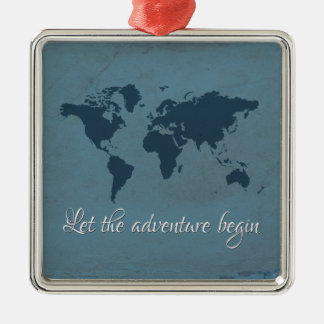 Let the adventure begin christmas ornament