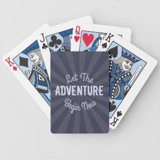 Let The Adventure Begin Now on Blue Starburst Poker Cards