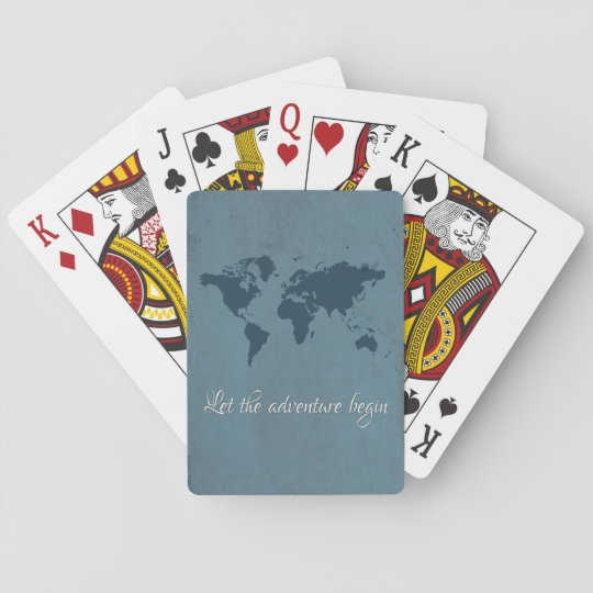 Let the adventure begin playing cards