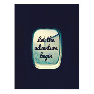 Let The Adventure Begin - Travel Quotes Postcard
