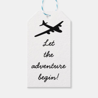 Let the adventure begin Travel Theme Gift Tags