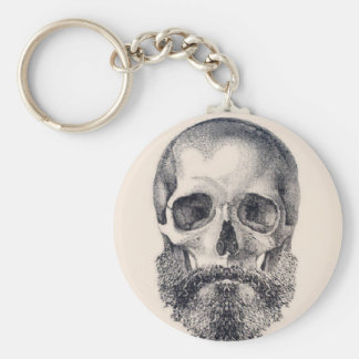 let the beard live forever basic round button key ring