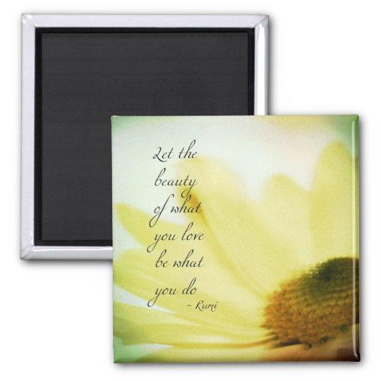 Let the Beauty Floral Square Magnet