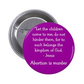 Let the children come 6 cm round badge