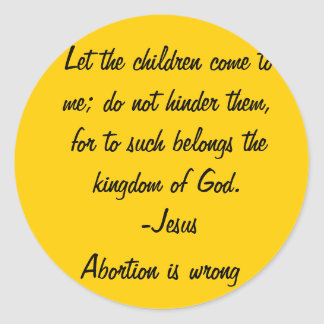 Let the Children come Round Sticker