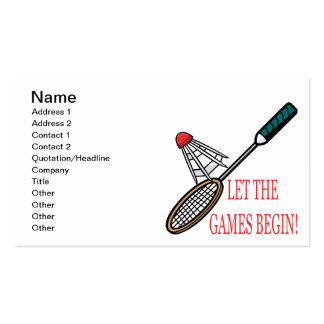 Let The Games Begin Pack Of Standard Business Cards