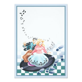 Let The Good Times Roll © 13 Cm X 18 Cm Invitation Card