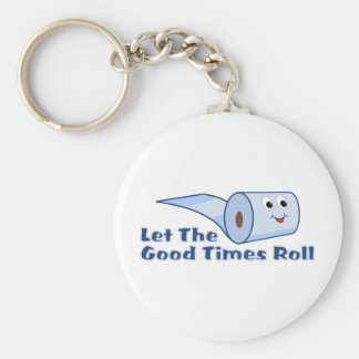 Let The Good Times Roll Basic Round Button Key Ring