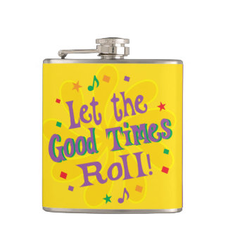 Let the Good Times Roll Hip Flask