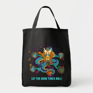 Let the good times roll! grocery tote bag