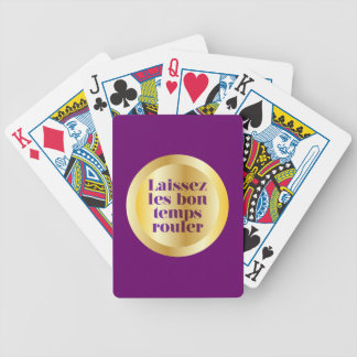 Let The Good Times Roll Bicycle Playing Cards