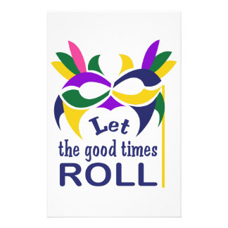 LET THE GOOD TIMES ROLL CUSTOMISED STATIONERY