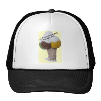 Let the ice-cream melt and stay slim-product. hats